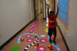 Sensory Hallway at University City Elementary Schools
