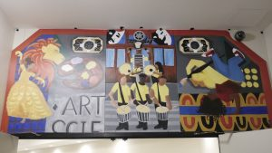 Cbabi Bayoc mural at University City High School